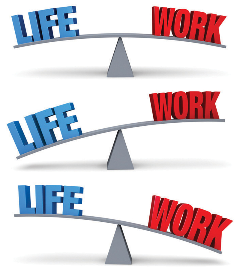 Illustration 4.0 - The three dynamics of life/work balance.
